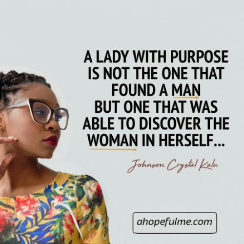 A lady with purpose